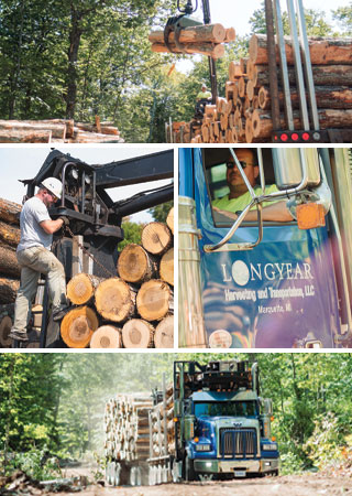 trucking image montage